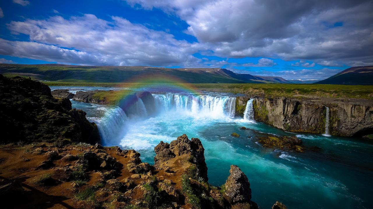 Wasserfall 1280x720